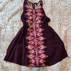 Forever 21 Boho Sleeveless Deep Purple Tent Mini Dress Size Large